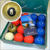 Exclusive 5.1cm Aramith Premier GOLDEN 8 BALL Edition Red & Blue Pool Balls