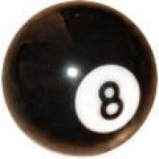 Supapro Number 8 Pool Ball - 5.1cm