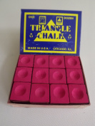 "Box of 12 Red Triangle ""King of them all"" Pool and Snooker Table Chalks,"
