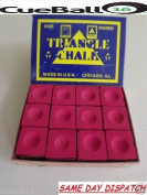 Triangle TRIANGLE Pool & Snooker Table Cue Chalk RED 12 Cubes