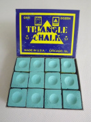 Box of 12 high quality Geniune Triangle GREEN chalks