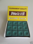 Snooker / Pool Chalk Green , box of 12 pieces