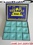 Triangle TRIANGLE Green Pool Snooker Table Cue Chalk 12 Cubes