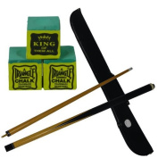 2 piece trade quality 120cm snooker / pool cue with FREE cue case & 3 FREE Triangle Green Chalks