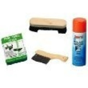 Homegames Pool Table Cloth Kit 2.1m Cover,Brushes + Cloth Cleaner