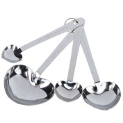 4pcs Heart Shaped Stainless Steel Measuring Spoon Sets