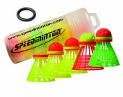 Speedminton Speedertube Mixpack 5Pcs Racket Sports - Yellow/Orange