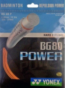 Yonex BG80 Power Badminton Racket String 0.68mm 10m - Bright Orange