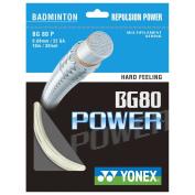 Yonex BG80 Power Badminton Racket String 0.68mm 10m - White