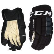 CCM 4R II Black Ice Hockey Gloves - Senior Size 33cm