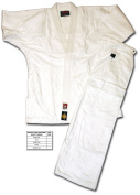 SHOGUN white bleached judo uniform/suit/gi, Gold quality