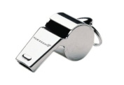 Rucanor 00296-01 Metal Referee Whistle - Silver, Large