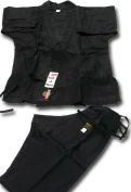 SHOGUN black karate uniform, Bronze quality