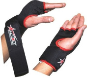 Foam padded inner glove with wrist wrap - blk.red large