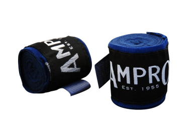 Ampro Stretch Boxing Hand Wraps 2.5m - Navy