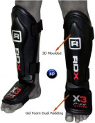 RDX MMA Shin Instep Guard Leg Pads Protective Gear Thai Boxing Training Kickboxing