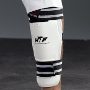 Wacoku Wtf Approved Shin Pads-White, Medium