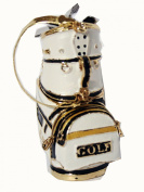 Metal Golf Sports Bag Pill Box With Golf Clubs