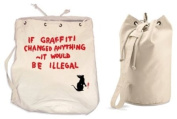 Banksy If Graffiti Changed Anything It Would Be Illegal Duffle / College / Rucksack / Gym Bag