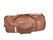 New Vintage Leather Large Duffel Overnight Gym Bag