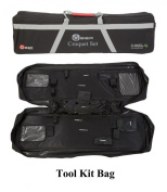 """Pro Croquet Set with Tool Kit Bag - Contains 2 sizes of mallet; 5.1cm x 90cm and 2 x 38."""" The set also includes 4 composite balls, 6 steel hoops, a hoop smasher, markers, clips, corner flags and a hardwood centre peg. All in a canvas tool kit b .."""