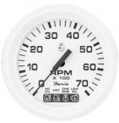 Faria Dress White 10cm Tachometer w/Systemcheck Indicator - 7,000 RPM