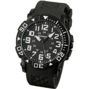 INFANTRY INFILTRATOR Mens Wrist Watch Sports Black Dial Analogue Display Rubber Strap Rotating Bezel #IF-006-BLK-R