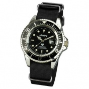 INFANTRY Sports Mens Wrist Watch Date Display Black NATO Strap Rotating Bezel #IN-019-S-BN