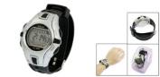 Black Grey Plastic Adjustable Wristband Digital Sports Watch for Children