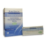 PureTouch Naturals Flushable Wipes, White, 12 Wipes, 1 Ct