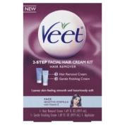 Veet Facial Hair Cream Two Step Kit, 3.38 Fluid Ounce