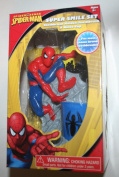 Spiderman Great Smile Toothbrush Gift Set - Includes Toothbrush Holder, Toothbrush, & Rinse Cup