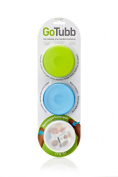 3 Pack - Medium Humangear Go Tubb Travel Containers One Handed Open Pill Box Etc