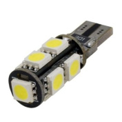 (2 pcs) LED CANBUS 9 pcs 5050 SMD LEDs Bulb T10 Base 12V Natural White 6000K