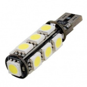 (2 pcs) LED CANBUS 13 pcs 5050 SMD LEDs Bulb T10 Base 12V Natural White 6000K