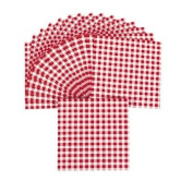 Red Gingham Luncheon Napkins - Tableware & Napkins