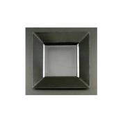 Square Plastic Dinner Plates, Black, 27cm - 10 Count