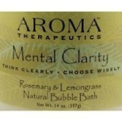 Aroma Therapeutics Mental Clarity Natural Bubble Bath, Rosemary & Lemongrass, 410ml