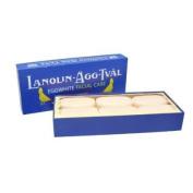 Lanolin-Agg-Tval Swedish Eggwhite Soap - 1 Box of 6 - 50g bars