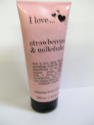 I Love Strawberries & Milkshakes Exfoliatingshower Smoothie 200ml Tube