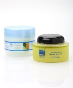 Dead Sea Spa Care, Body Scrub, 300ml Cucumber/Melon Salt Scrub and 240ml Cucumber/Melon Shea Body Butter, Dead Sea Salt Scrub, Salt Scrub, Dead Sea Products