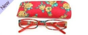 Fashion Reading Glasses - Floral Red +1.0
