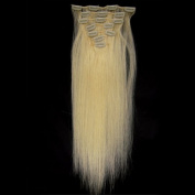 "Fashionline 15""18""20"" Fashional Clips in Remy Human Hair Extensions 24 Colours for Women Beauty."