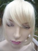 ONE PIECE CLIP IN FRINGE BANGS HAIRPIECE BLEACH BLONDE VERY REAL LOOK