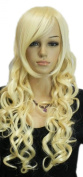 Yazilind Light Blonde Long Wavy Curly Heat Resistant Fibre Synthetic Hair Full Cosplay Anime Costume Wig