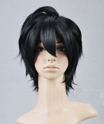 Tomb Shiki Black Short Anti-Alice Cosplay Wig
