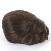 Brunette Braided Clip In Hair Bun | Clip On Glamorous Hairpiece | Available in 4 Colours