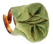 L. Erickson USA Tiny Covered Jaw 100% Silk Dupioni