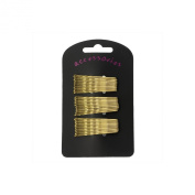 30 Gold Blonde Traditional Kirby Hair Grips Slides Clips Pins 5cm