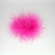 Marabou Feather Puff Hair Bow Clip